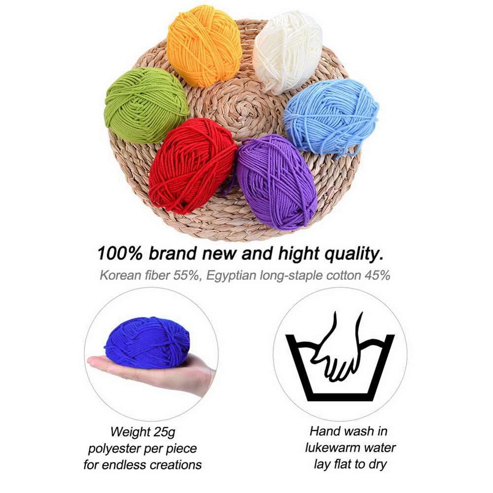 Didihou leite macio fio de algodão fibra de veludo lã crochê fio para a mão tricô diy suéter cobertor cachecol suéter cobertor brinquedo