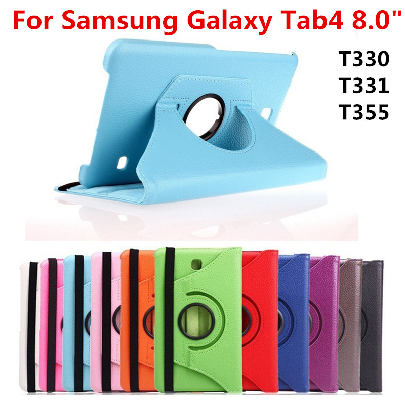 For Samsung Galaxy Tab 4 8.0 inch T330 T331 T335 SM-T331 SM-T330 SM-T335 Tab4 8 Tablet Case Bracket Flip Leather Cover планшет samsung galaxy tab 4 sm t331 8 3g 16gb white