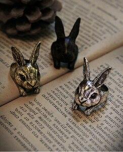 Женское кольцо в стиле ретро с большой головой кролика, 12 шт./лот