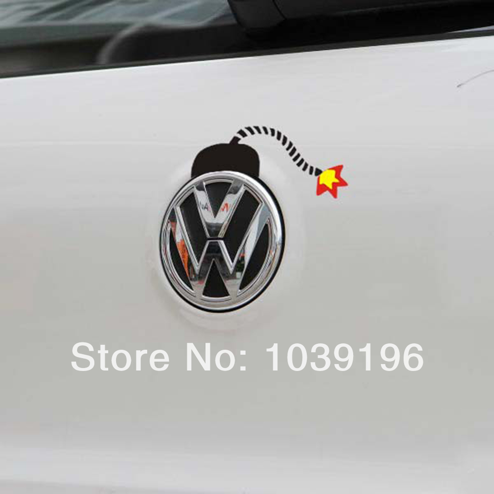Car sticker design photos - Newest Design Car Stickers Funny Bomb Design Car Decal For Volkswagen Vw Golf Gti Touareg Tiguan