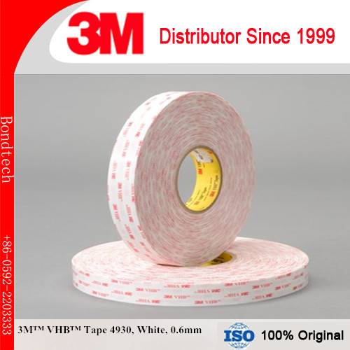 3M 4930 VHB Double Sided Tape White, 18mm x 36 yd , 0.6mm (Pack of 2)