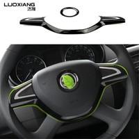Auto Steering Wheel Ring Interior Decoration Trim For Skoda New Octavia Superb 2014 Yeti Rapid Octavia