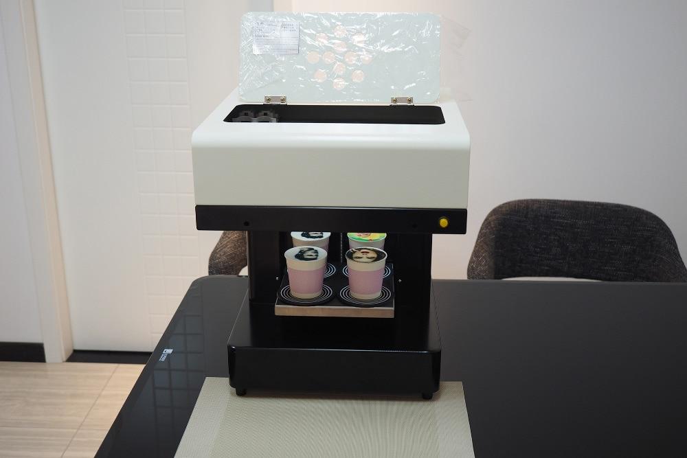 2018 hot sale Automatic 4 cups coffee printing machine DIY design art design coffee printer with 110V & 220V - 2