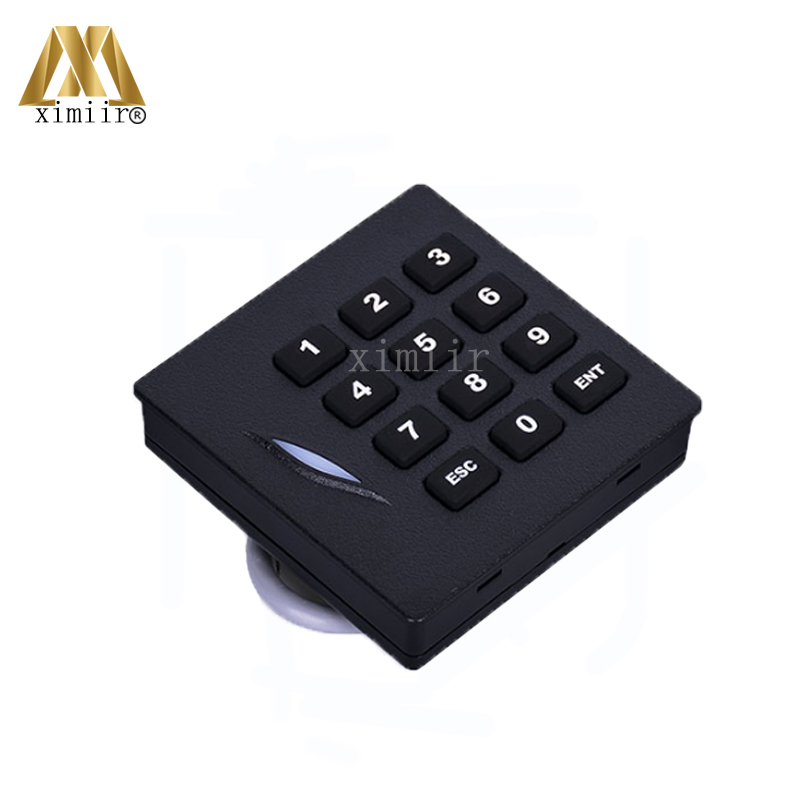 4pcs A Lot ZK IP65 Waterproof KR102 MF card access control reader weigand34 13.56MHZ IC Card Smart Card Reader With Keypad zk 13 56mhz ic card mf card door access control card reader with wiegand34 ip65 waterproof smart card reader with two led light