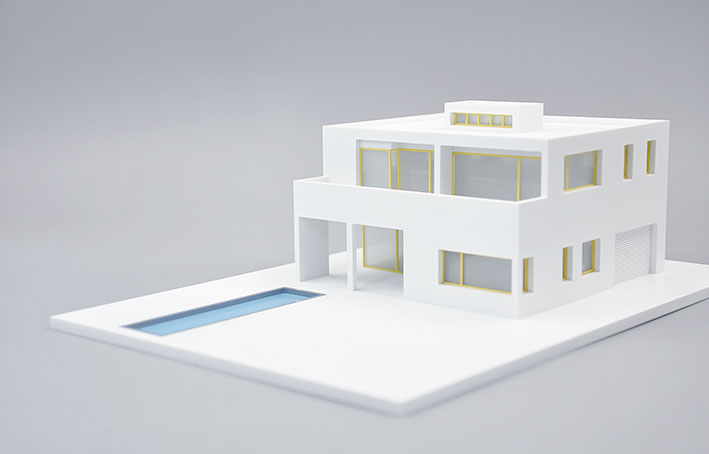 1:72 model building sand table model modern architect Graduation meredith clausen pietro belluschi – modern american architect paper
