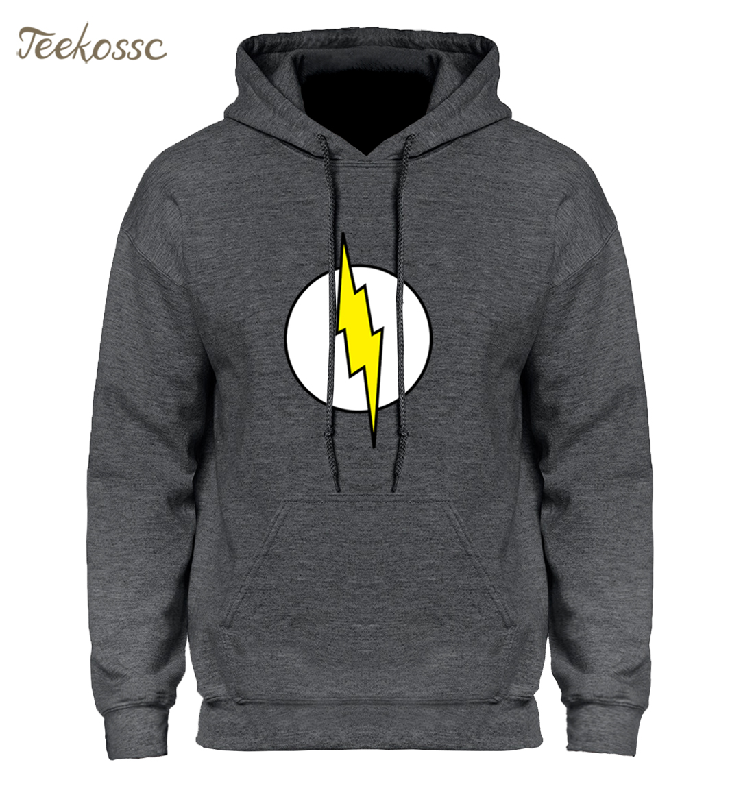 2018 Men Hoodies The Big Bang Theory Sheldon The Flash Hoodie Mens Sweatshirts Winter Autumn Sweatshit Casual Black Print Hoody