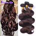 Rose Annabelle Hair Brazilian Virgin Hair 3pcs Brazilian Body Wave Human Hair Bundles Dark Brown Light Brown Hair Extension