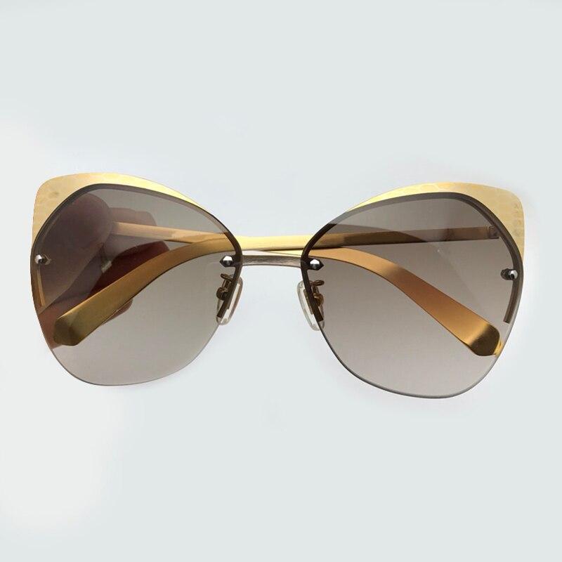 Mit Brillen Eye Oculos Box No Hohe 1 no Qualität 3 Designer Sol 2 no 2019 Feminino Sonnenbrille Marke Frauen Cat no De Luxus 4 Rahmen Metall Mode tt7TO