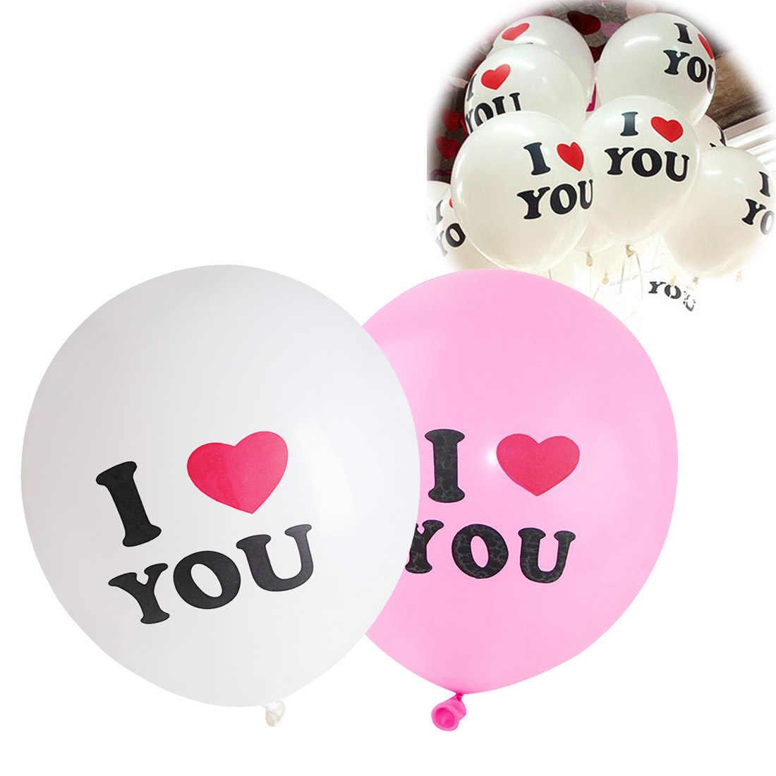 10pcs ทนทาน I LOVE YOU Heart Pearl Latex บอลลูน Globos บอลลูนสำหรับคริสต์มาสงานแต่งงาน san valentin 12 นิ้วบอลลูน