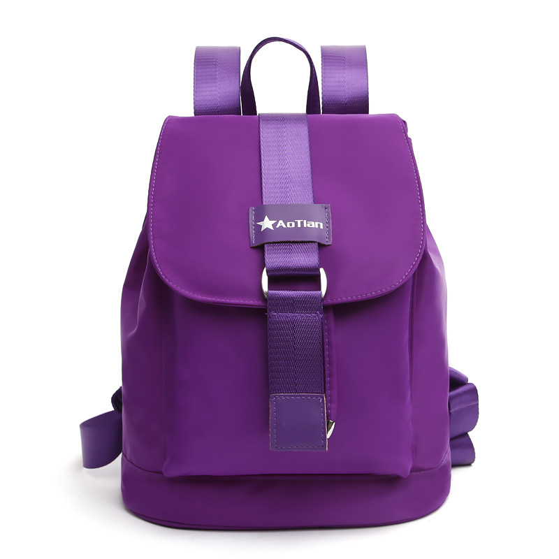 Preppy Style Women Backpack Drawstring Cover Double Shoulder Bags WaterProof Nylon Hasp Students School Bag Brand Female Mochila primary school students school bag 3 6 candy color preppy style backpack