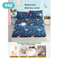 AAG Cute Baby Waterproof Washable Sheet Protection Mattress Cover Pad Infants Portable Foldable Mattress Protect With Elastic 0