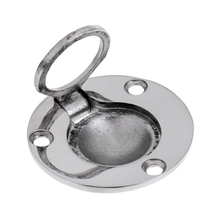 Boat Marine Stainless Steel Round Flush Mount Lift Lifting Ring Deck Hatch Pull Handle 49mm Sleek smooth flush mount design