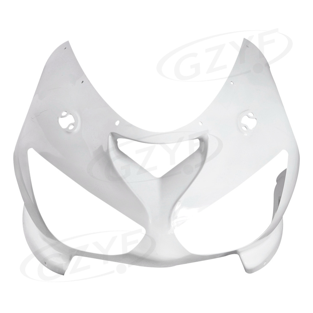 Unpainted Upper Front Fairing Cowl Nose Fits for Kawasaki Ninja ZX6R 2005-2006 ZX-6R, ABS Plastic upper front cover cowl nose fairing for kawasaki ninja zx6r 2012 2013 injection mold abs plastic unpainted