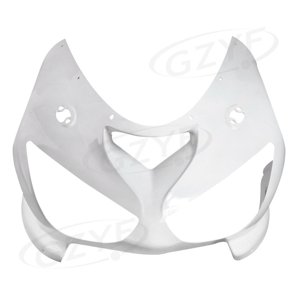 Верхние передние неокрашенные Обтекателя Клобук нос подходит для Кавасаки ниндзя запросу zx6r 2005-2006 ZX в-6р, пластмасса АБС
