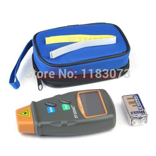 Digital Laser Tachometer 2.5-100000 RPM Electronic Photo Tachometer Precise Non Contact RPM Tach DT-2234C+With Reflecting Tape ut372 non contact laser tachometer