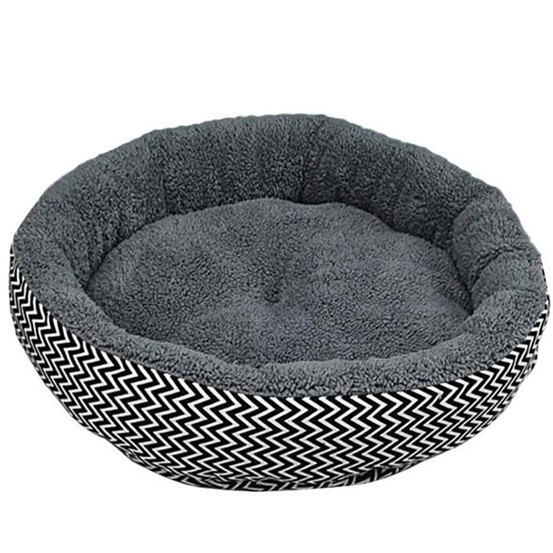 Venta caliente 2 Colores Ronda Suave Rayado Pet Dog House Bed gato Y Perro Cama