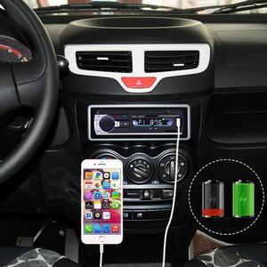 Image 4 - Bluetoothステレオサブウーファー車ラジオ1.din hd 12ボルトインダッシュusb。fmラジオaux入力レシーバーsd mmc mp3オートマルチメディアプレーヤー