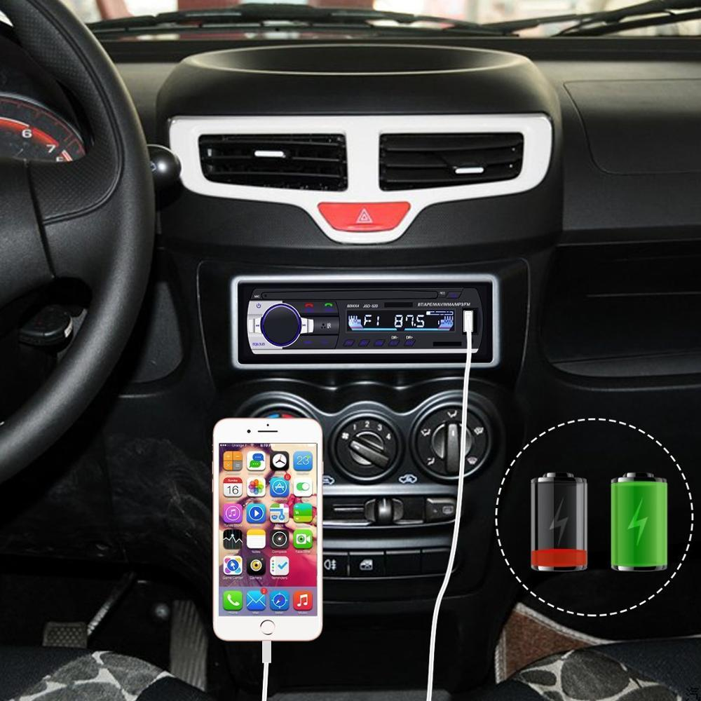 Image 4 - Bluetooth stereo subwoofer car radio 1.din hd 12V In dash USB .FM Radio Aux Input receiver SD MMC MP3 auto multimedia Player-in Car Radios from Automobiles & Motorcycles