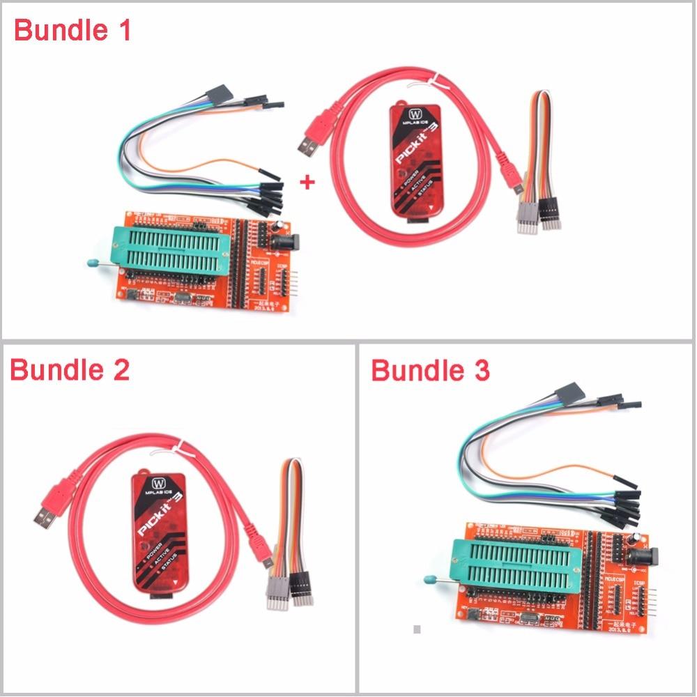 PICKIT3 Programmer Pickit Kit 3X Emulators / PIC ICD2 PICKit 2 PICKIT 3 Programming Adapter Universal Programmer Seat FZ0649