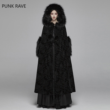 4033076e6a06 PUNK RAVE mujeres Gothc hermosa capa victoriana corte cabo escultura  latitud tela de la etapa de la mujer chaquetas de invierno