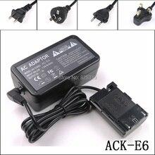 ACK E6 + DR E6 ACKE6 ACK E6 AC Güç Adaptörü Kiti Canon Dijital SLR Kameralar için EOS 5D 5D Mark II III 5D2 5D3 6D 6D (N) 6D (WG)
