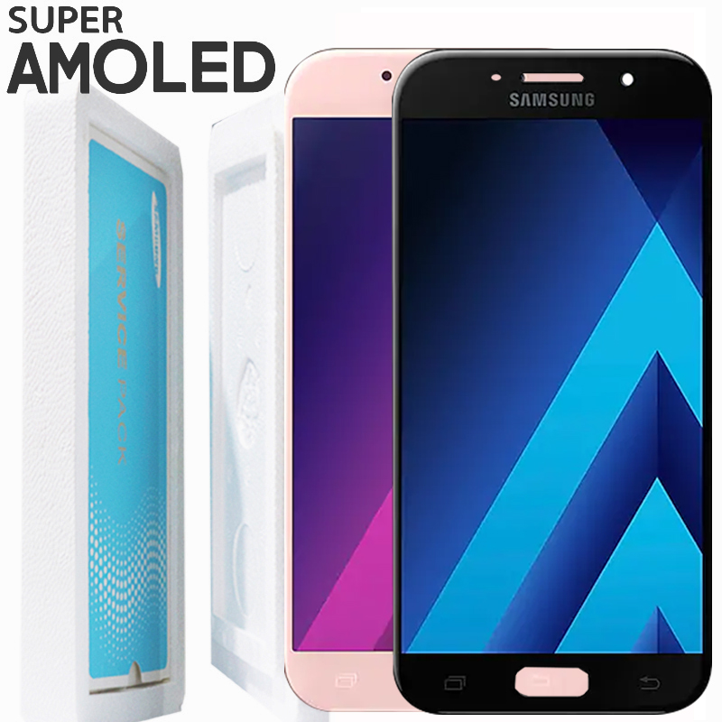 ORIGINAL 5 2 Display SUPER AMOLED LCD with frame for SAMSUNG Galaxy A5 2017 A520 A520F
