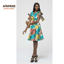 New fashion african party dress for women  african femme clothes sexy lady style bazin riche print cotton wax plus size A722509