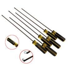 Chave de fenda phillips extra longa, chave de fenda phillips com crv magnético, comprimento 395mm para máquina de costura, ferramenta manual para reparo diy