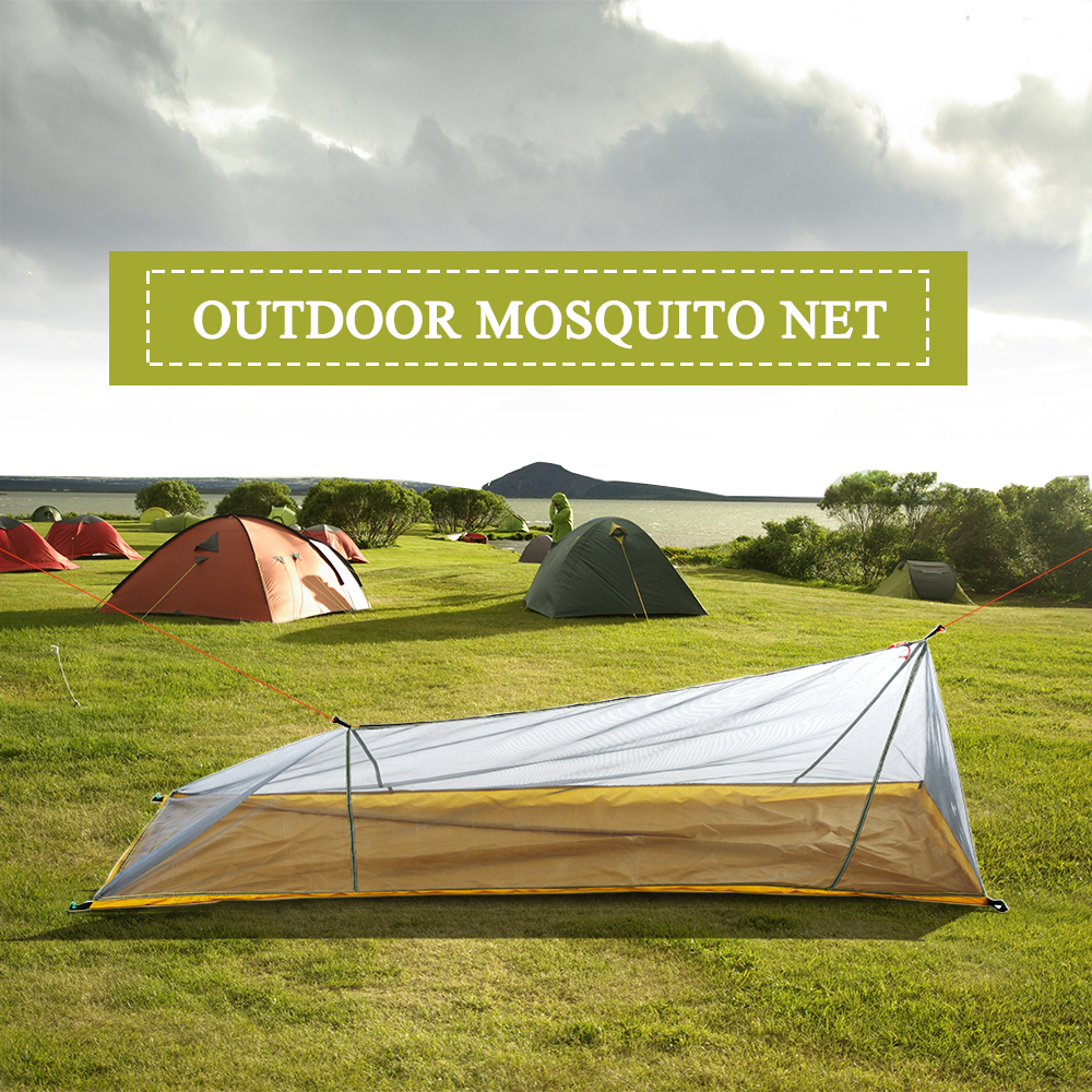 Lixada Summer 1 Single Person Tent Outdoor Camping Tent Ultralight Mesh Tent Mosquito Insect Bugs Shelter Bug Repellent Net