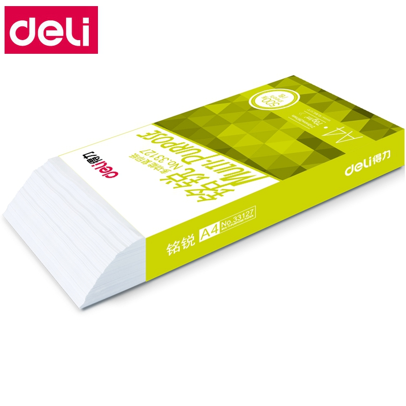 500 Sheets/BOX Wholesale Deli A4 Multi-purpose Paper Copy Paper Printing Paper 70g 80g Wholsale Aegean Sea Series
