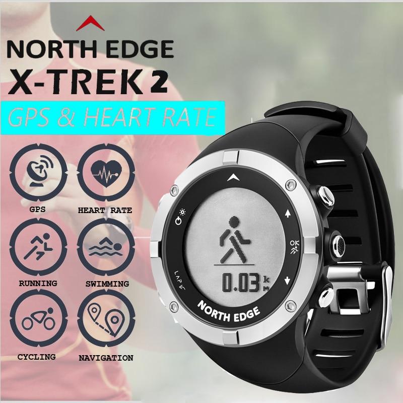 Montre GPS intelligente NorthEdge hommes montre horloge de natation numérique étanche 50 M Campass X-Trek2 Relogio montres de fréquence cardiaque GPS numérique