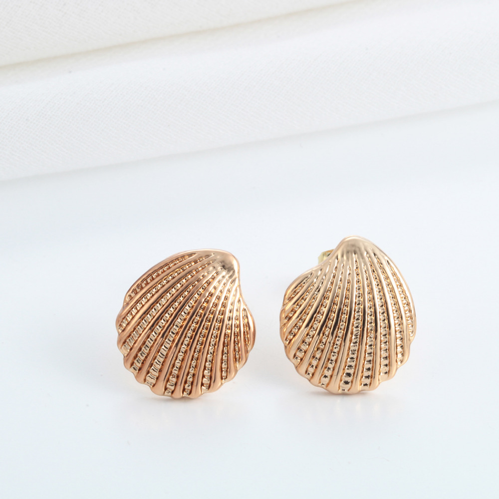 seastories plate stud classic smpokou agapi seashell earrings rose gold products