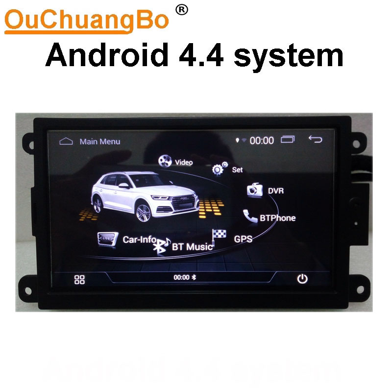 Ouchuangbo 7 pouces voiture audio radio gps idéal pour Q5 A5 A4 b8 2009-2015 support multimédia android 4.4 système