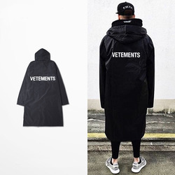 Vetements waterproof trench men extended jacket fashion letter oversized rain thin coat black yeezy hip hop.jpg 250x250