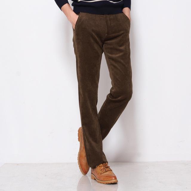 Nuevo otoño e invierno de los hombres de negocios pantalones casuales pantalones versión coreana de la afluencia de los hombres pantalones de pana Delgada hombres