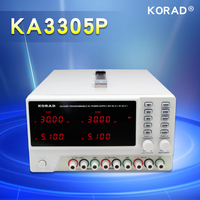 KORAD KA3305P Programmable Precision Variable Adjustable 30V, 5A DC Triple Linear Power Supply Digital Regulated Lab Grade