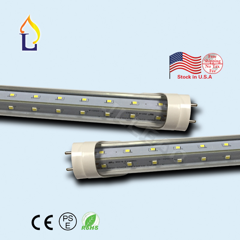 25pcs/lot T8 led V shape tube light SMD2835 24W 30W 40W 48W 60W led lights led bulb AC110-277V LED Tube Bulbs Lights