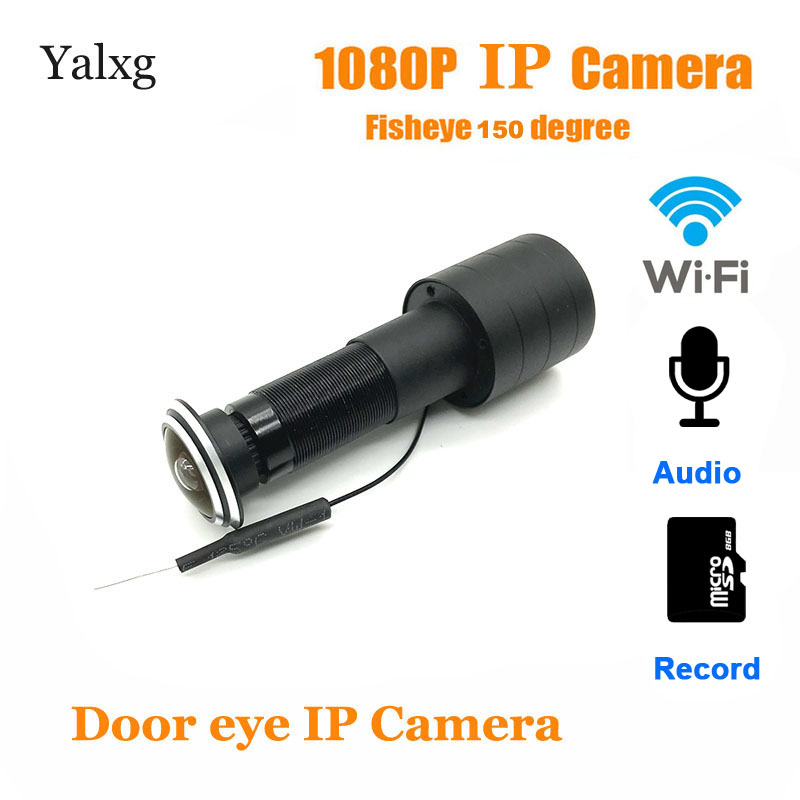 Home 1080P Wi-fi Door Eye Hole Mini Peephole IP Camera FishEye Lens Motion Detection Cam Build-In Mic TF Card Supported