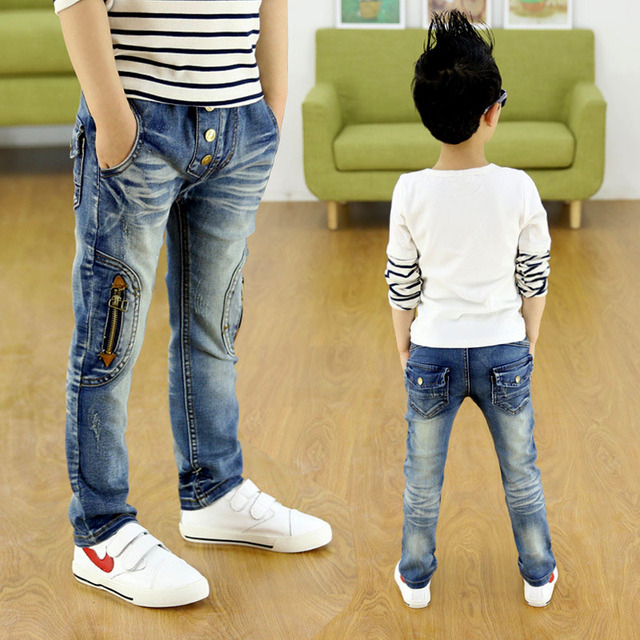 f0f33db5e boys child jeans spring and autumn child male 2018 trousers thin pants slim children's  clothing High quality fashion jeans