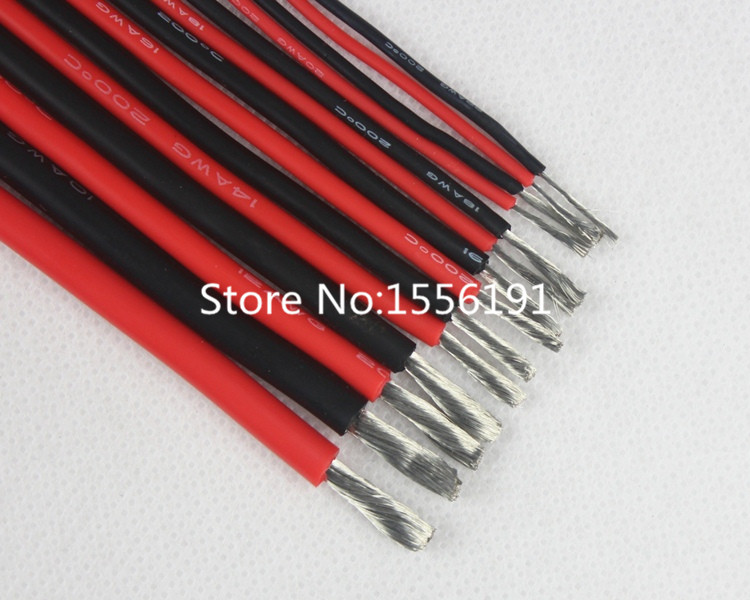 30 AWG 5 meters/lot,30# AWG,200 degrees Celsius High temperature resistant silicone wire,DIY Battery Wire Electronic wire