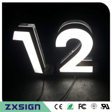 15cm high Super brightness illuminated acrylic LED house numbers/small home numbers/ modern digital doorplate