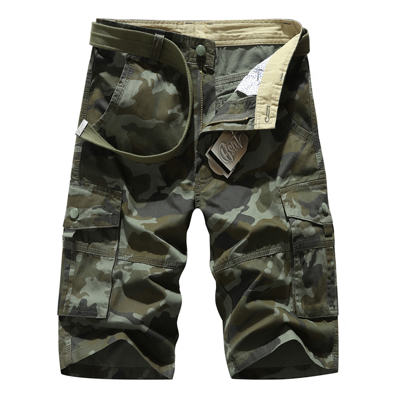 2019 Summer New Men's Camouflage Overalls Shorts Fashion Casual Cotton Pattern Straight Cargo Shorts Male