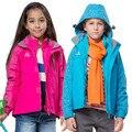 Nuevo 2016 Spring & Winter Niños Niños muchachas de los Bebés a prueba de agua a prueba de viento chaquetas de esquí Gruesa campera de abrigo y abrigos