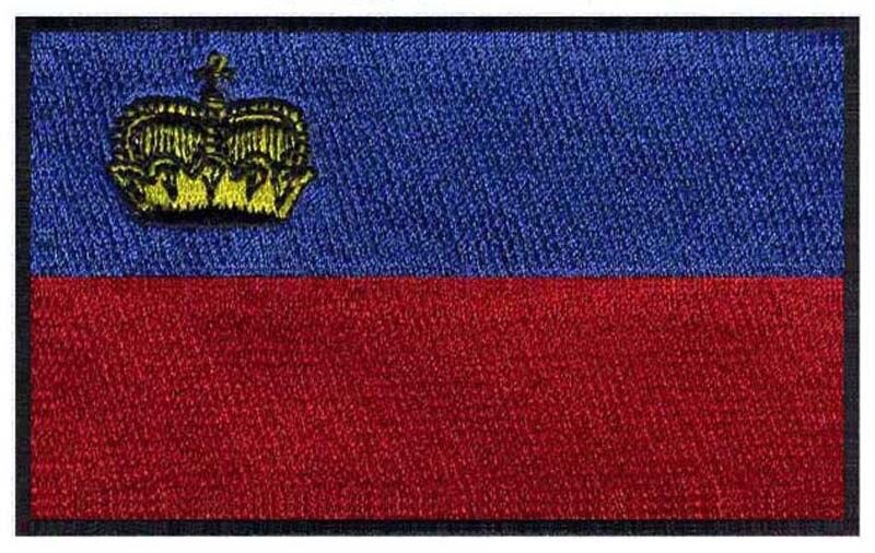 Liechtenstein embroidery flag patches logos 3 wide /pedro del hierro/football helmet/anarchy