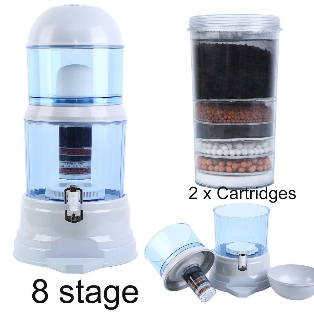 (Ship From EU) 16L Water Filter Ceramic Carbon Mineral Bench Dispenser Purifier Remove Rust Sediment Filtering Suspended