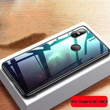 Aixuan Glass Case For Xiaomi Mi Mix 3 Xiaomi Mix 3 Mix3 Case painted Tempered Glass Silicon Protective full Cover Cases