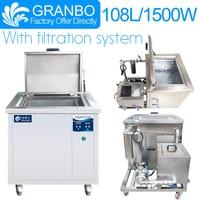 Limpiador ultrasónico Industrial Granbo 108L con sistema de filtración para servicio pesado personalizado de carburador de motor de autopartes Limpiadores ultrasónicos     -