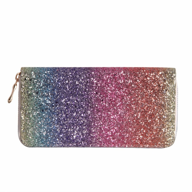 Luxury Women Long Wallet Sparkly Sequined Clutch Glitter Pu Leather Ladies Phone Bag Card Holder Coin Purse Female Wallets