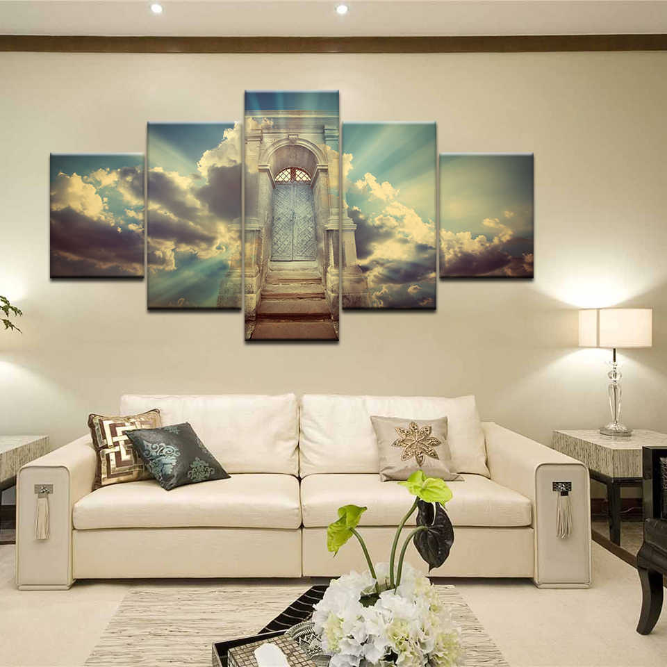 No Frame Canvas Wall Door Art Oil Painting Picture Poster Print Decor Set