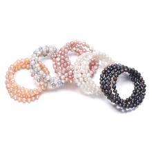 100% Natural Freshwater Pearl Bracelets High Quality for Women 6-7mm